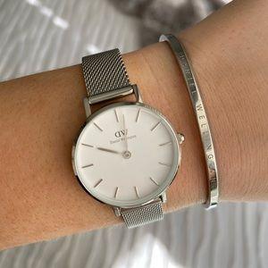 Daniel Wellington Silver Watch & Bracelet